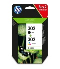 HP 302 Oryginalny Standardowa wydajność Czarny, Błękitny, Purpurowy, Żółty
