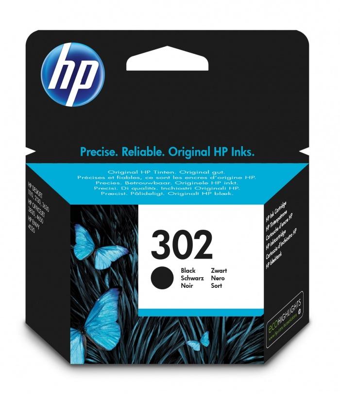 HP 302 1 szt. Oryginalny Standardowa wydajność Czarny