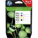 HP 953XL CMYK Ink Crtg Combo 4-Pack