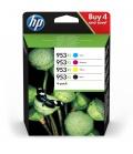HP 953XL Oryginalny Wysoka (XL) wydajność Czarny, Błękitny, Purpurowy, Żółty