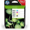 HP 903XL CMYK Ink Crtg Combo 4-Pack