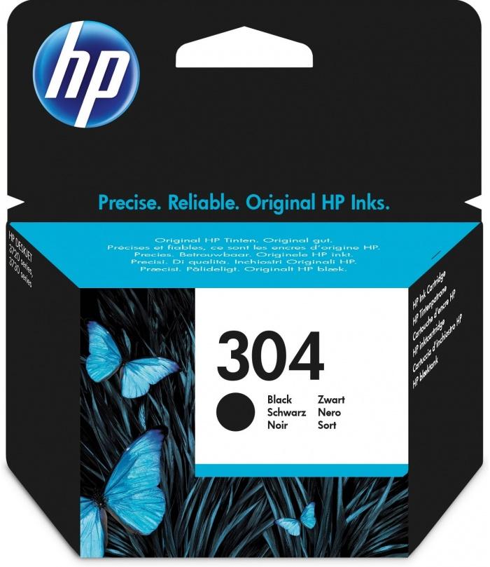 HP 304 Oryginalny Standardowa wydajność Czarny