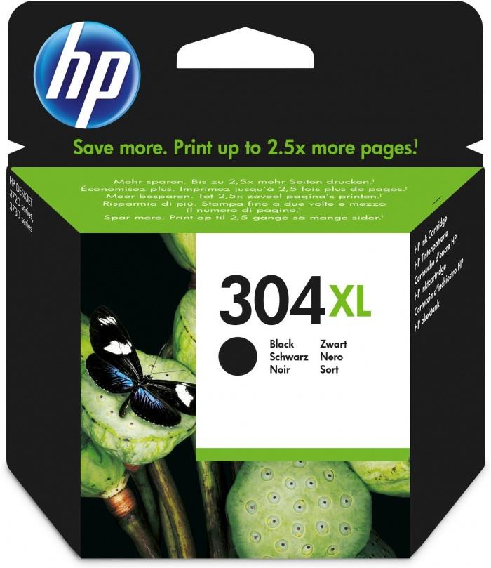 HP 304XL Oryginalny Wysoka (XL) wydajność Czarny