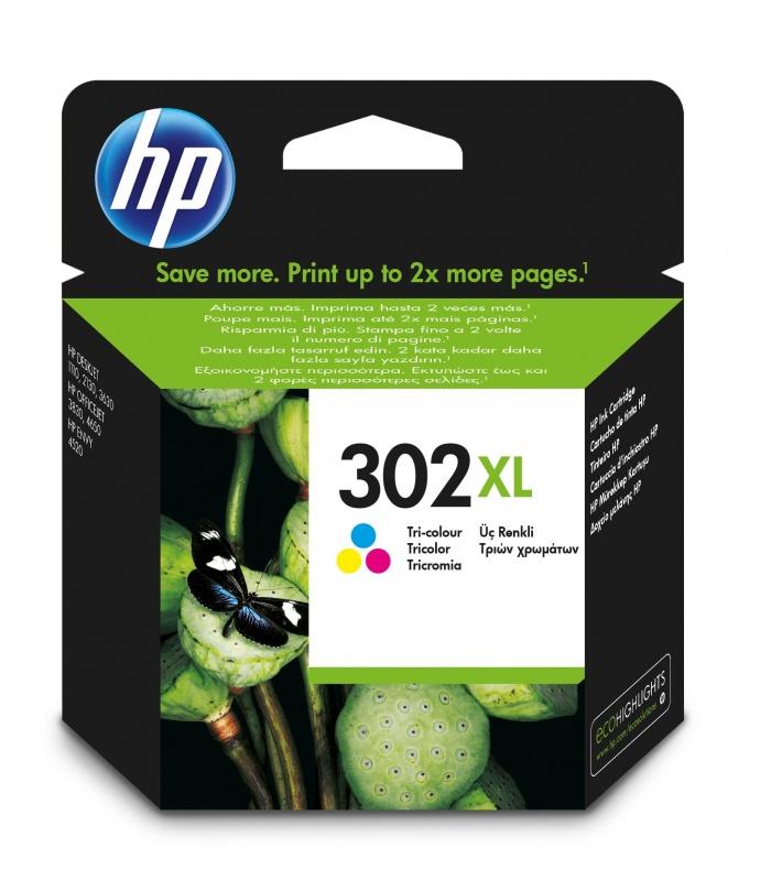 HP 302XL 1 szt. Oryginalny Wysoka (XL) wydajność Błękitny, Purpurowy, Żółty
