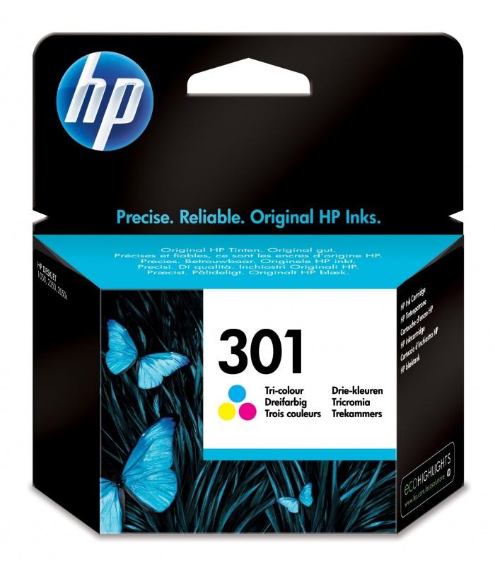 HP 301 1 szt. Oryginalny Standardowa wydajność Błękitny, Purpurowy, Żółty