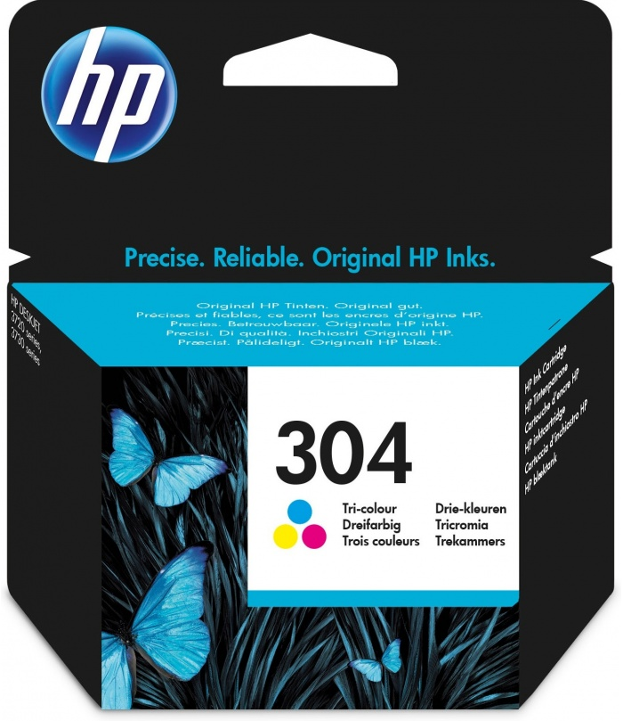 HP 304 Oryginalny Standardowa wydajność Błękitny, Purpurowy, Żółty