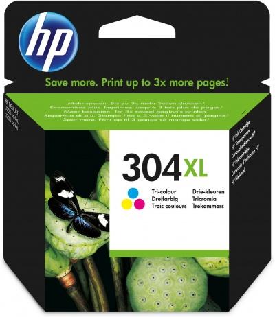 HP 304XL Original High (XL) Yield Cyan, Magenta, Yellow