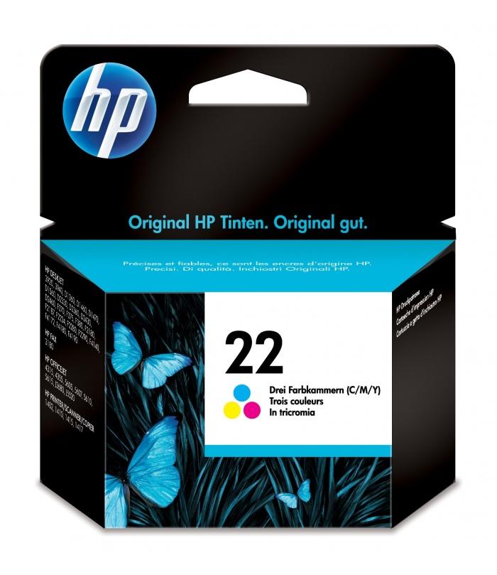 HP 22 1 szt. Oryginalny Standardowa wydajność Błękitny, Purpurowy, Żółty