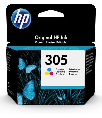 HP 305 1 szt. Oryginalny Standardowa wydajność Błękitny, Purpurowy, Żółty