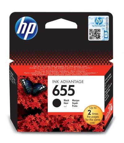 HP 655 1 szt. Oryginalny Czarny fotograficzny