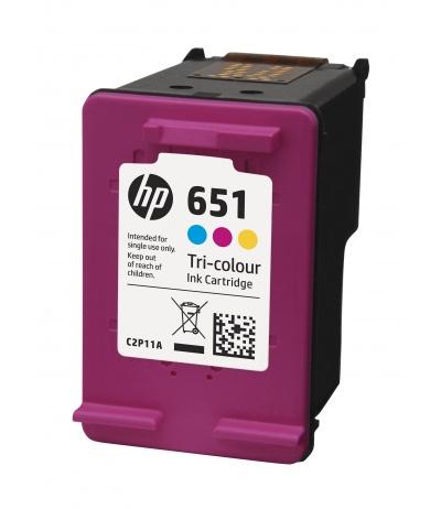 HP 651 Oryginalny Błękitny, Purpurowy, Żółty