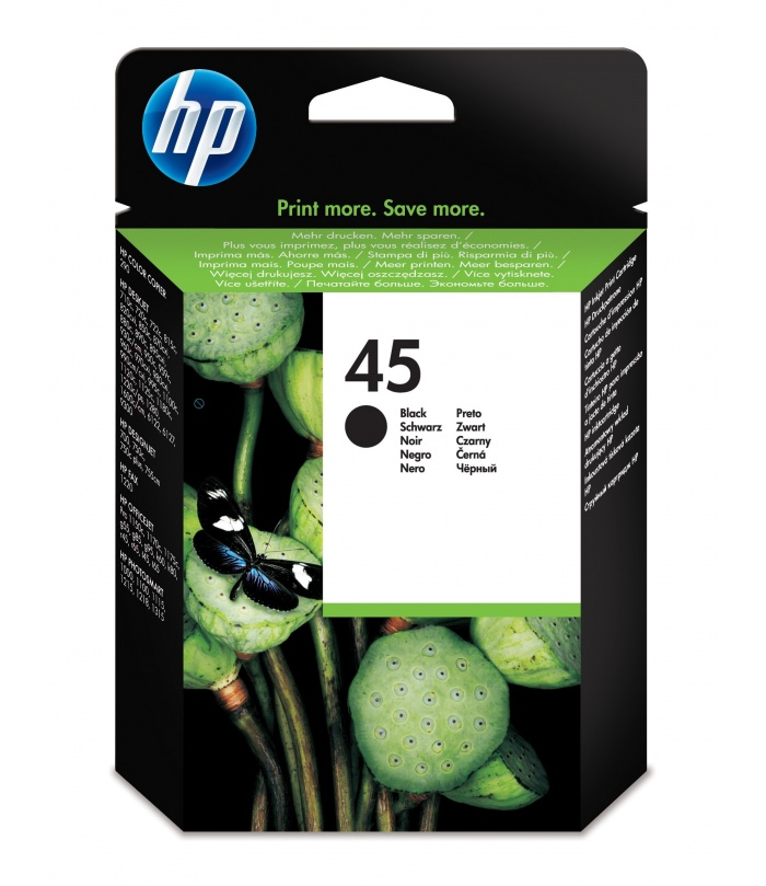 HP 45 1 szt. Oryginalny Wysoka (XL) wydajność Czarny